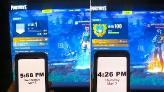 Download LEVEL 1 to LEVEL 100 in 24 Hours! - SEASON 4 NEW SECRET to MAX LEVEL 100 in Fortnite Battle Royale! Video