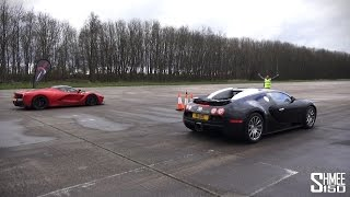 Download DRAG RACE: LaFerrari vs Bugatti Veyron - Vmax Stealth Video