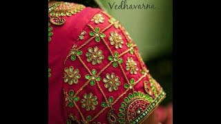 Download hand made designer blouse || stone work wedding blouse stitching video Video