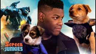 Download John Boyega and PUPPIES! Pacific Rim Uprising Video