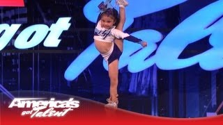 Download 5-Year-Old Darby Is a High Flying Stunting Cheerleader - America's Got Talent Video