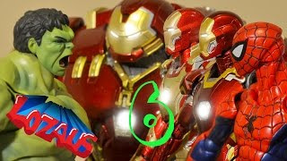Download IRONMAN STOP MOTION Part 6 with SUPER HEROES SPIDERMAN, HULK & HULKBUSTER Video