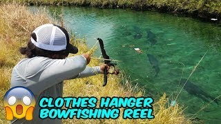 Download DIY Homemade Clothes Hanger BOWFISHING REEL! Video