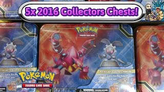 Download Opening 5x Magearna and Volcanion Collectors Chests! Pokemon TCG unboxing Video