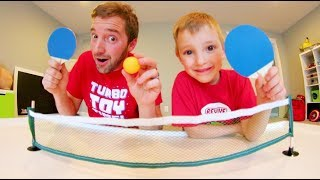 Download FATHER SON MINI PING PONG! / + Trick Shots! Video