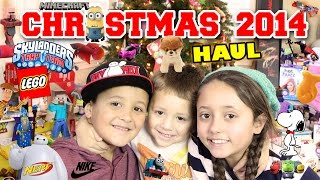 Download Christmas Haul 2014!! Minecraft, LEGO, Skylanders, BOOM, NERF, Science Experiments + MORE Toys! Video