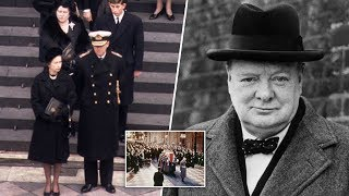 Download Queen 'broke royal protocol' for Winston Churchill by bestowing rare honour on wartime PM Video