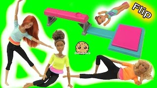 Download Gymnastic Flip In Air Girl + Most Poseable Doll EVER Made To Move Barbie Video