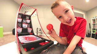 Download FATHER SON TRAMPOLINE BASKETBALL! / Trick Shots & Game! Video