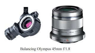 Download [HD] Balancing Olympus 45mm f/1.8 on the DJI X5 Zenmuse Gimbal Video