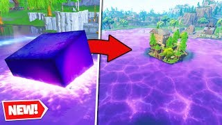 Download *NEW* CUBE MELTS into LOOT LAKE - Fortnite Battle Royale Video