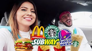 Download Letting the person in FRONT of us DECIDE what we eat for 24 HOURS! Video