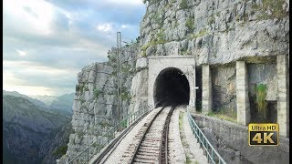 Download 4K CABVIEW Bar - Bijelo Polje -102 tunnels -96 bridges -1029m altitude change from Sea to Mountains Video