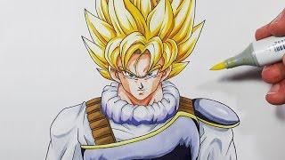 Download How To Draw Goku Super Saiyan   Yardrat Clothes - Step By Step Tutorial Video