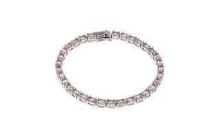 Download Colleen Lopez Oval Morganite Sterling Silver Line Bracel... Video