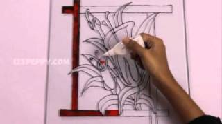 Download How to Make a Gorgeous Flowers Glass Painting Video