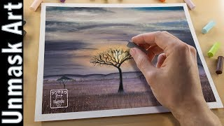 Download Safari Landscape Painting with Soft Pastels | Live Tutorial Video