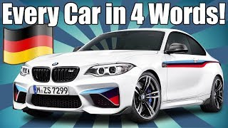 Download Every Car Ever in 4 Words! GERMAN EDITION Video