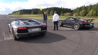 Download Porsche 918 Spyder vs Lamborghini Aventador Pirelli Edition - Launch Control! Video