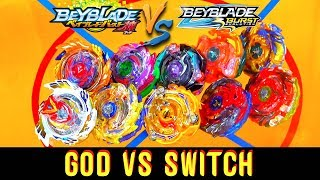 Download SWITCHSTRIKE CHAMPIONS!! GOD VS SWITCH BEYBLADE BATTLES Video