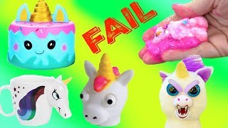 Download Wacky Unicorn Slime FAIL Wednesday & Cutting Open Squishies Video
