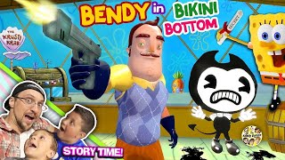 Download BENDY & the Ink Krabby Patty Machine @ KRUSTY KRAB w/ Spongebob! Hello Neighbor gets Secret Formula? Video