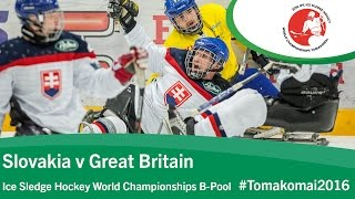Download Slovakia v Great Britain | Prelim | 2016 Ice Sledge Hockey World Championships B-Pool, Tomakomai Video