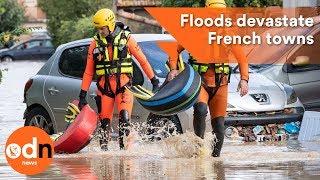 Download Fatal flash floods devastate towns in southwestern France Video