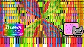 Download [Black MIDI] Synthesia – ″Nyan Trololol″ | Rainbow Tylenol & Nyan Cat Remix ~ BusiedGem Video