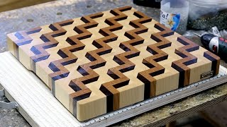 Download Making a 3D end grain cutting board #3 Video