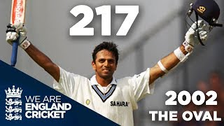 Download Rahul Dravid Hits 217 at The Oval | England v India 2002 - Highlights Video