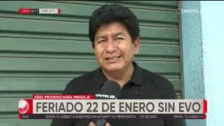 Download Feriado del 22 de enero sin Evo Morales, hay opiniones sobre el tema Video