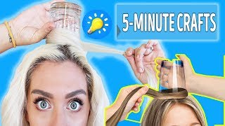 Download Trying Hacks from 5-Minute Crafts 25 COOL HAIRSTYLES TO MAKE (UNDER A MINUTE) Video