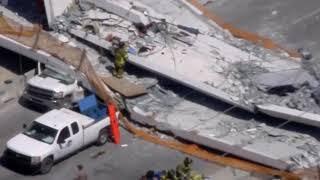 Download Pedestrian bridge collapses at Florida university, several hurt Video