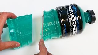 Download How to Make a HUGE Powerade Gummy Bottle Jello Dessert! Video