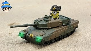 Download The minions are in the tank. Adventure story episode of tank toys and minions. Video