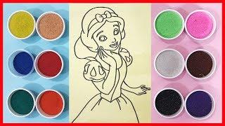 Download Đồ chơi trẻ em TÔ MÀU TRANH CÁT công chúa BẠCH TUYẾT - Colored Sand Painting Toys (Chim Xinh) Video