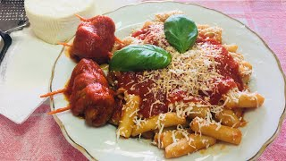 Download Pasta Grannies make 'pizzicariedd'i macaroni with beef rolls Video