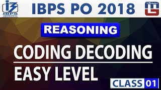 Download Coding Decoding | Easy Level | Class 1 | IBPS PO 2018 | Reasoning | Live at 11 am Video