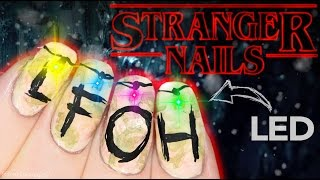Download Stranger Things Christmas Lights Nail Art Video