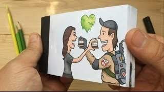 Download Ghostbusters Custom Drawn Flipbook Aniamtion Video