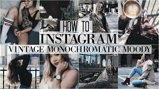 Download HOW I EDIT INSTAGRAM PHOTOS + HACKS | Vintage • Dark Monochromatic • Moody Theme Video