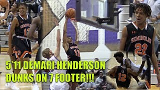 Download 5'11 Demari Henderson DUNKS ON 7 FOOTER!!! Henderson Twins BACK AT IT w/ Older Bro Zion Henderson Video