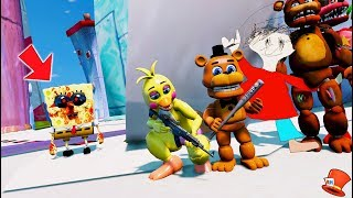 Download Funny Animatronics Hide Underwater from Scary Spongebob exe! (GTA 5 Mods FNAF RedHatter) Video