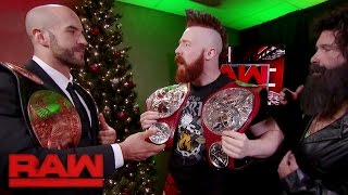 Download Cesaro & Sheamus receive their new Raw Tag Team Titles: Raw, Dec. 19, 2016 Video