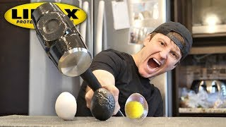 Download THIS SPRAY MAKES ANYTHING UNBREAKABLE!! (LINE-X EGG EXPERIMENT) As Seen On TV Test! Video