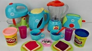 Download JUST LIKE HOME Deluxe KITCHEN Appliance Full Set, Play-doh Bake Mix Magic Slime Frozen Elsa /TUYC Video