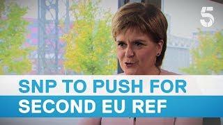 Download SNP leader Nicola Sturgeon confirms MPs would push for a second EU referendum – 5 News Video
