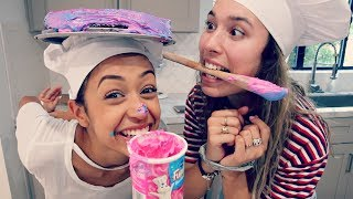 Download BAKING WITH NO HANDS CHALLENGE!! Video