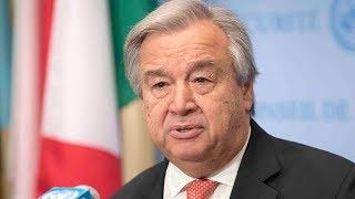 Download UN Secretary General on allegations of slavery in Libya Video